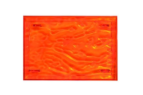 Kartell Plateau Dune Large, Plastique, Orange, 38x55x3 cm