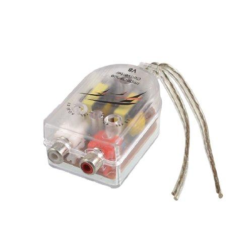Sourcingmap® Auto PKW LKW High to Low Lautsprecher Konverter Adapter auf RCA Linie de de