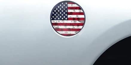 Car-Gear Gas Cap Decal Fuel Door Graphics Kit 3M Vinyl Decal Wrap Compatible with Dodge Ram 1500 2009-2014 - USA Flag