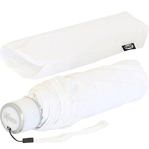 iX-brella Mini Ultra Light - Brautschirm Damen Taschenschirm - extra leicht - weiß - Hochzeit