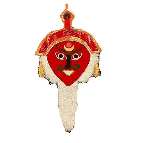 Tibetano Rojo Estilo Tibetano Tradicional Hecho A Mano Flor Gesang Cara Roja pera Tibetana Mscara Tibetana Artesanas Caseras Decoracin De Pared Color