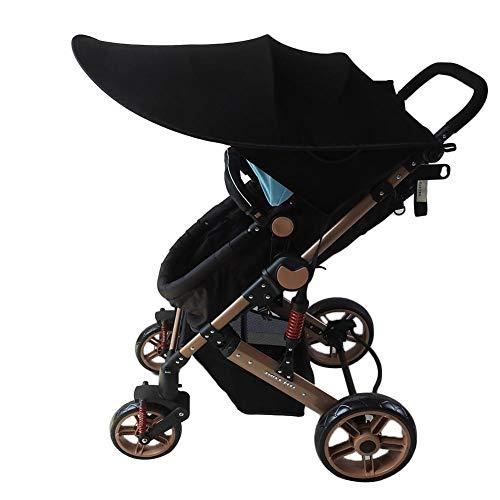 Morningtime Kinderwagen Sonnenschutz Baldachin Universal UV-Schutz Baby Lycra Sonnenverdeck Verstellbar Faltbare Markisen Zubehör für Buggy Sportwagen
