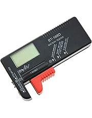 IWILCS Comprobador de batería digital de pilas de botón, probador de batería digital para AA, AAA, C, D, PP3, 9 V, 1,5 V, probador de pilas de botón