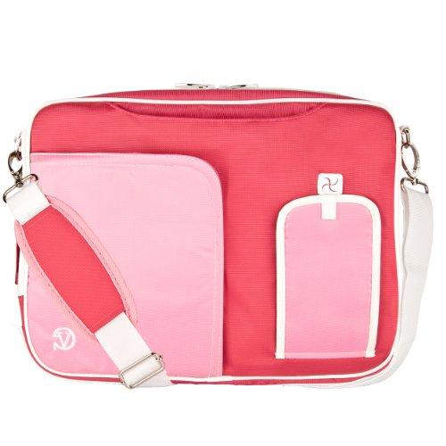 VanGoddy Pink Laptop Messenger Bag for ASUS Transformer Series/ROG/ASUSPRO/ZenBook/VivoBook / 14'- 15.6inch
