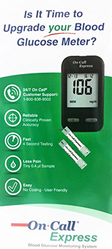 buy  On Call Express Blood Glucose Diabetic Test ... Blood Test Strips