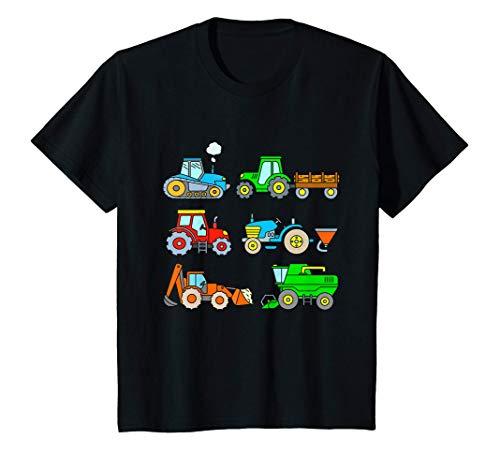 Niños Tractor Cosechadora Granja Tractores Niño Bebe Infantil Camiseta