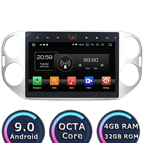 Autoradio ROADYAKO Octa Core 10.1 Pouces pour VW Tiguan 2013 2014 2015 Android 8.0 Navigation GPS 3G WiFi Lien Miroir RDS FM AM Bluetooth AUX Multimédia Audio Vidéo