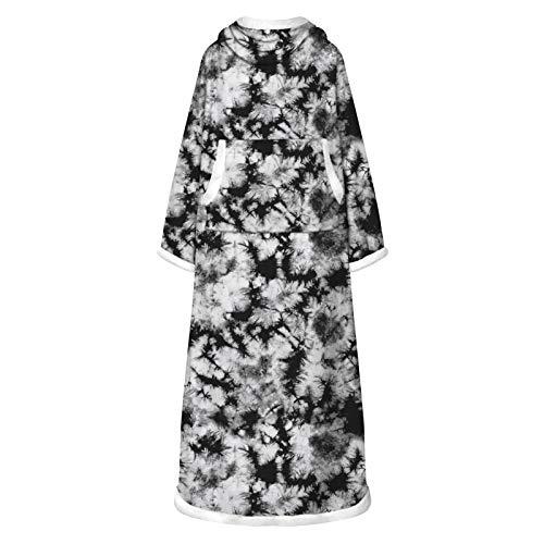 Manta de terciopelo militar, para hombre y mujer, con bolsillos grandes, batas de cuello alto, manta súper grande, tamaño