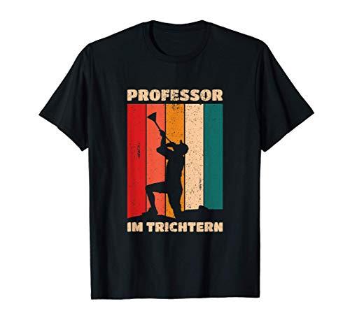 Professor im Trichtern Bier Trinken Bierbong Bierrutsche T-Shirt