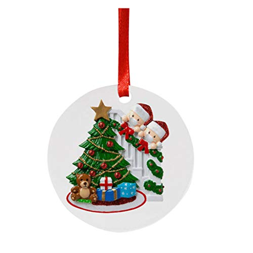 2020 Personalized Christmas Tree Hanging Ornaments, Creative Christmas Decorations Gifts Xmas Tree Hanging Pendants for Holiday Wedding Party Decoration Tree Ornaments