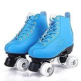 Tmpty Patines para mujer con 4 ruedas para adultos y jóvenes principiantes (tamaño: 9,5, color: azul)