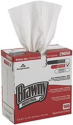Brawny industriales 29050/03 Blanca 4-Ply Scrim reforzado papel Limpiaparabrisas, 16.7