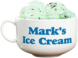 GiftsForYouNow Ice Cream Bowl with Personalized Message and Convenient Handle Design, Holds 32 Oz of Ice Cream