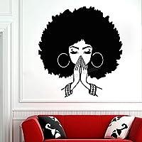 美しいアフリカの女性の壁のステッカーアフリカの女の子の壁のステッカーの家の装飾のための引用ビニールReovable壁の装飾42X46cm