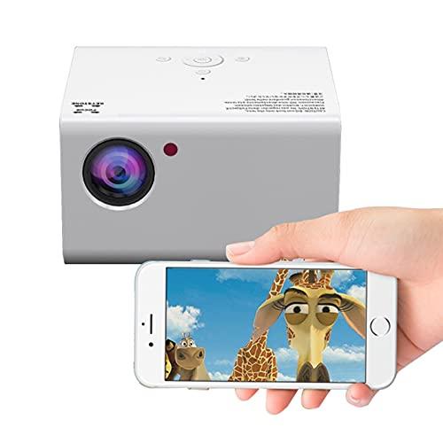 LXLTL Proiettore, Full HD Videoproiettore Nativa 1920X1080p LED Proiettore Supporto/PC/iPhone/Android 6.0 Smart Phone/PC/Speaker