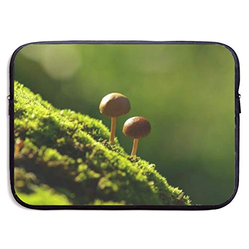 Mushrooms On The Moss Laptop Sleeve Shoulder Bag, Protective Carrying Case 15 Inch Slim Sleeve