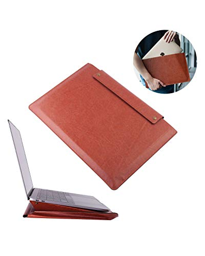 Insten 13.3 Inch Laptop Tablet Sleeve PU Leather Case Pouch Carrying Bag with Stand Function Compatible with iPad Pro 3 2018 Pro 2 2017 11 12.9 Pro2 10.5 9.7 Pro Air Surface Go Pro 1
