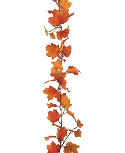 Ghirlanda autunnale di foglie d'acero artificiali, 200cm