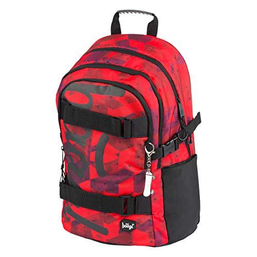 Schulrucksack für Jungen Mädchen Teenager - Skateboard Rucksack - Kinderrucksack mit Laptopfach und Brustgurt für Schule (Skate Triangle)