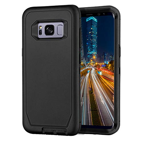 I-HONVA for Galaxy S8 Case Shockproof Dust/Drop Proof 3-Layer Full Body Protection [Without Screen Protector] Rugged Heavy Duty Durable Cover Case for Samsung Galaxy S8(SM-G950U), Black
