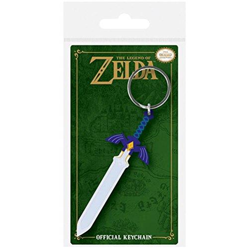 Nintendo The Legend Of Zelda - Master Sword, Schlüsselanhänger aus Gummi, 4.5 x 6 cm