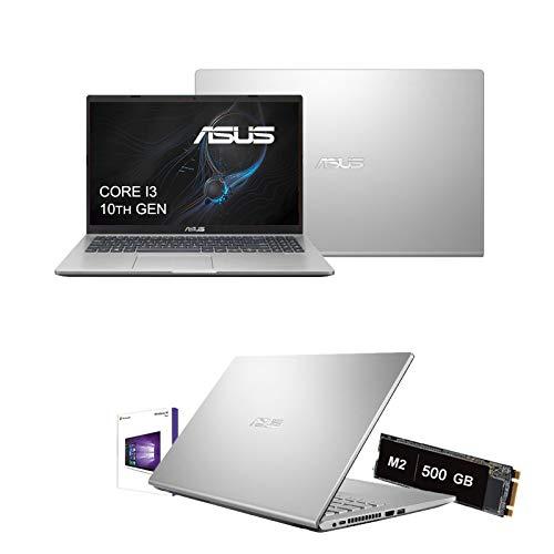 Notebook Pc Asus portatile Intel Core i3-1005G1 3.4 Ghz 10 Gen. display 15,6  Hd 1920x1080,Ram 8Gb Ddr4,Ssd Nvme 500 Gb M2,Hdmi,USB 3.0,Wifi,Bluetooth,Webcam,Windows 10 64 bit,Open Office,Antivirus
