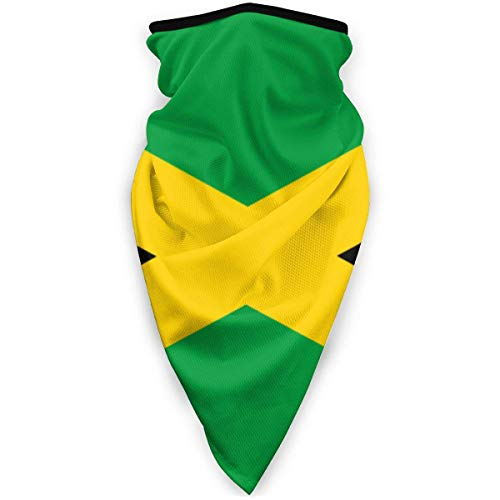 Zome Lag Raya De Bandera De Jamaica Isla del Caribe Pasamontañas,Pañuelo Facial,Bandanas De Exterior,Calentador De Cuello Unisex,Envoltura Suave para La Cabeza