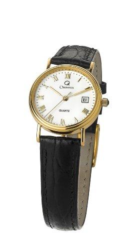 Orphelia Damen Analog Quarz Uhr mit Leder Armband MON-7083