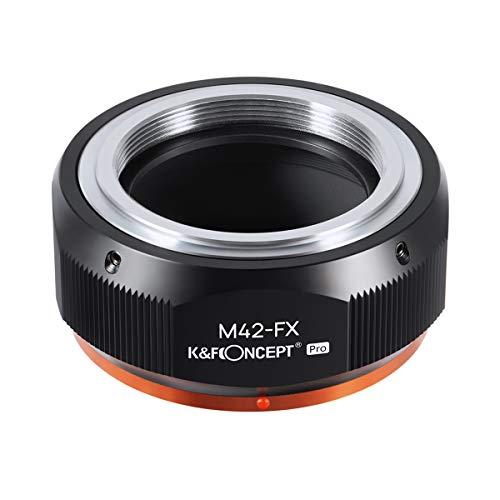 K&F Concept レンズマウントアダプター Pシリーズ KF-42X.P (M42マウントレンズ → 富士フイルムXマウント変...