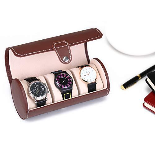 Asvert Caja de Relojes para Viajes y Joyero de Reloj Estuche para Relojes Regalos Organizador de Relojes Conveniente imprescindible (marrón)