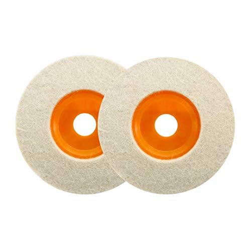Haobase 2 unidades de 4 pies 100 mm pulidor de lana ángulo amoladora rueda fieltro...