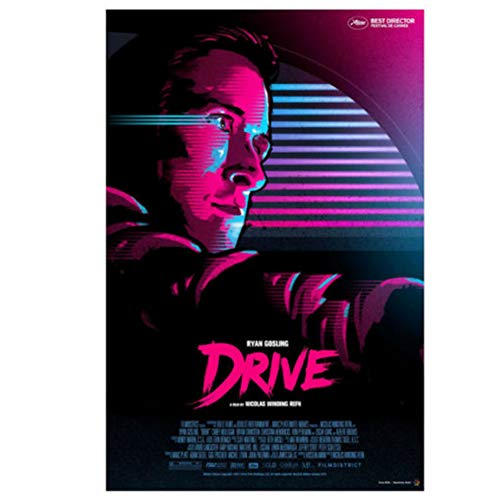 DNJKSA Ryan Gosling Drive Movie Poster and Prints Art Poster Canvas Painting Room Pictures Home Decor -50x75cm No Frame