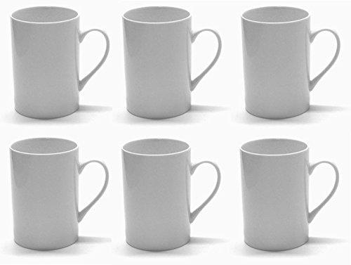 Kaffeetassen / Kaffeebecher von Retsch Arzberg / zylindrische Form, blanko, weiß, Tassen 300ml (6 Stück im Set)