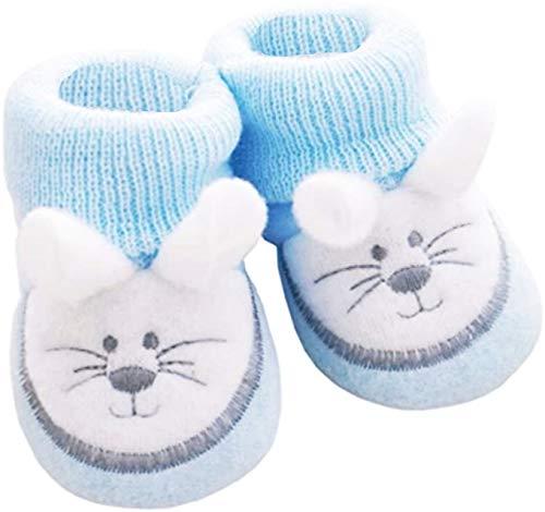 NOSBEBES® Chaussons bébé idée Cadeau bébé maternité ou idée Annonce de Grossesse (Sour Bleu) 0-3 Mois Etroit