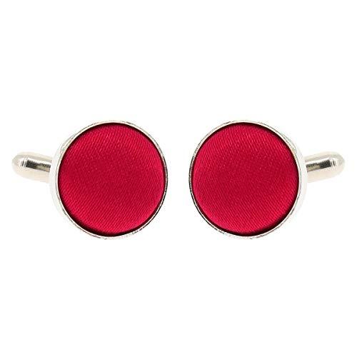 Boutons de Manchette Rose framboise pour Homme - Accessoire Poignet Chemise et Veste de Costume - Mariage, Cérémonie