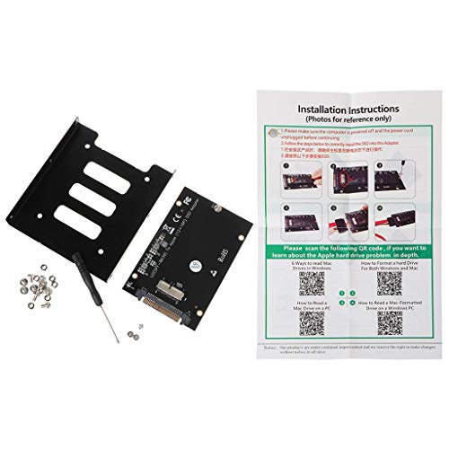 """Adaptador DealMux M2 PCIe a SFF-8639 U.2 Adaptador con bandeja de soporte de 3,5""""Caddy para Book Air Pro Retina 2013 2014 2015 12 + 16Pin M2"""