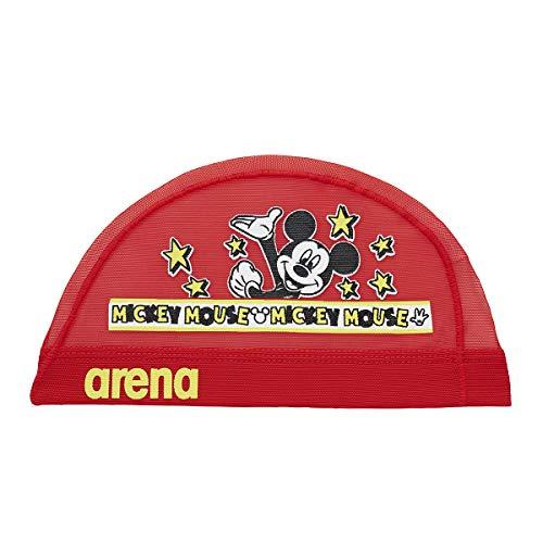 arena(アリーナ) スイムキャップ スイミングキャップ メッシュ ディズニー ミッキー&ドナルド DIS-9361 (RED)レッド S