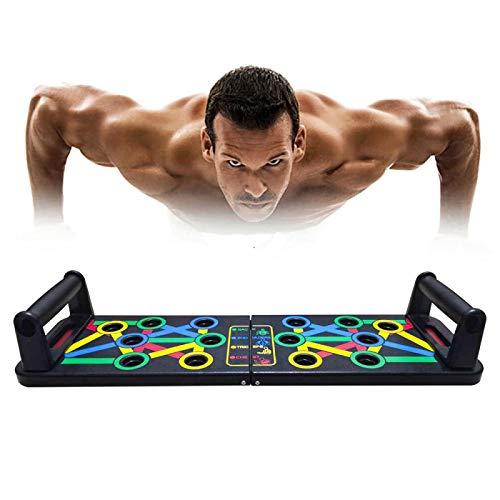 ZBSY 14 en 1 push-up rack tabla entrenamiento deporte fitness gimnasio equipo push up apoyo para abdominales musculares ejercicio