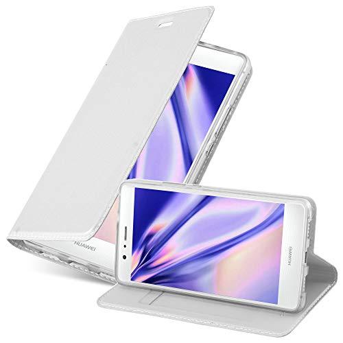 Cadorabo Funda Libro para Huawei P9 Lite en Classy Plateado - Cubierta Proteccíon con Cierre Magnético, Tarjetero y Función de Suporte - Etui Case Cover Carcasa