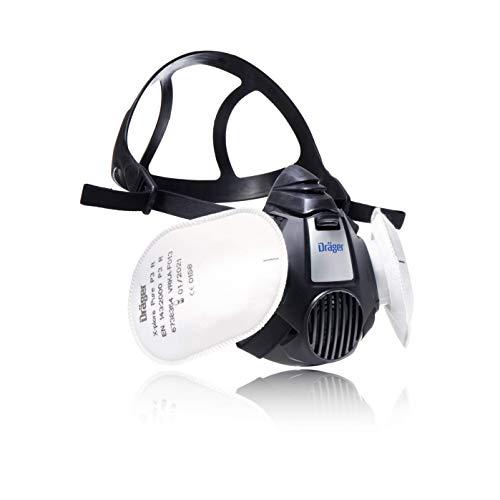 Dräger X-plore 3500 Handwerker Halbmasken-Set inkl. Pure P3 Partikelfilter | Größen S/M/L | gegen Fein-Staub/Partikel | Gr. M