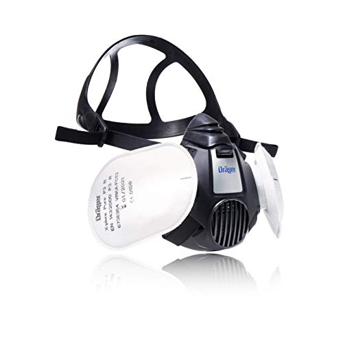 Dräger X-plore® 3500 Semimáscara de protección + filtros de partículas P3, mascarilla para Trabajos de construcción contra Polvo, partículas Finas