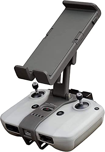 CYNOVA Soporte de teléfono móvil Tablet soporte para DJI Mini 2 / Mavic Air 2 / Air 2S mando a distancia, dron RC, accesorio soporte ajustable para smartphone / Pad de 4-10,1 pulgadas