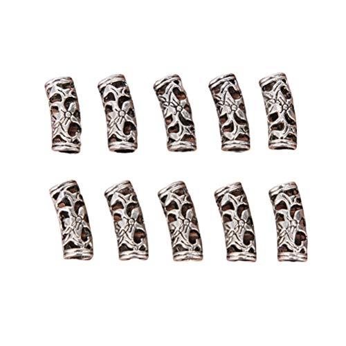 IYSHOUGONG 10 piezas de cuentas para el pelo, horquillas trenzadas, anillos de tubo trenzado, accesorios para el pelo trenzado, bricolaje, pulsera