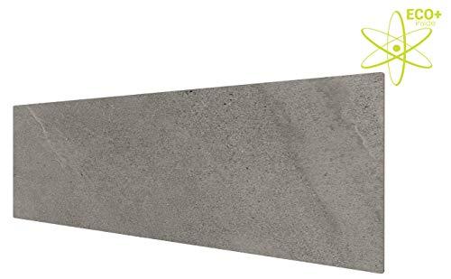 insidehome | Infrarotheizung CERAMICA ECO+ rahmenlos | elegantes Feinsteinzeug | stromsparender SPEICHERKERN | österreichische Qualität | Fliese: Slate Naturale matt (500 Watt - 100 x 35 cm)
