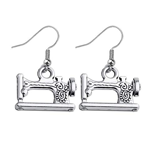 Ni36uo0qitian0ozaap Singer Sewing Machine Earrings,Mini Sewing Jewellery,Gift for Mum,Sister Best Friend,Crafty Earrings,Gift for Crafter,Seamstress Gift,Seamstress Earrings
