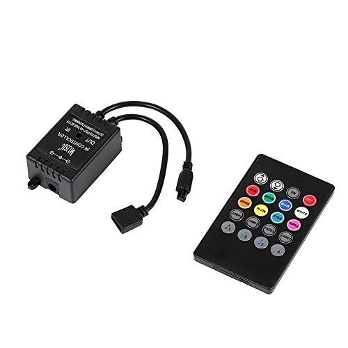 Controlador portátil de música LED 20 Teclas IR Controles de Sensor de Sonido Remoto para RGB Cambio de Color Flexible Luces de señal con función de activación de Sonido
