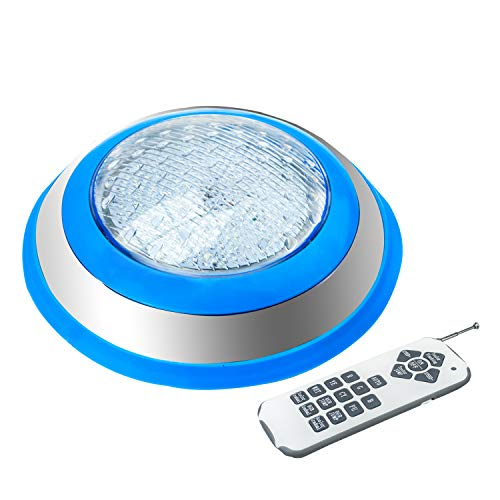 Foco LED Piscina,AC 12V 54W LED Piscina Iluminacion,IP68 LED Sumergible de Lámpara Impermeable RGB Control Remoto para Swimming Pool Wall Mounted(54W-RGB)
