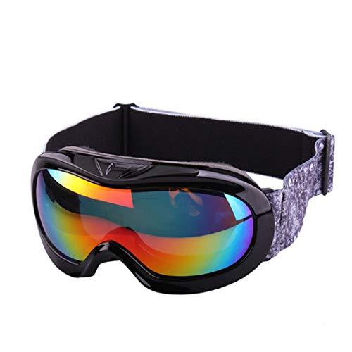 WYALM Gafas de esquí for los niños de una Sola Capa antivaho Gafas Esfera Grande Ver Gafas de Esquí y Snowboard Gafas (Color : Black)