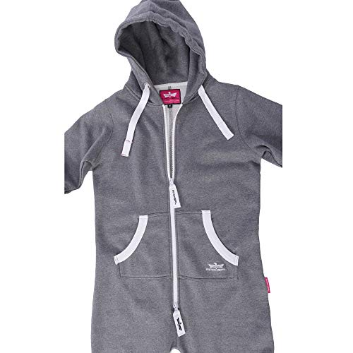DI5 Finchgirl Damen Jumpsuit Jogging Anzug Trainingsanzug Overall Dunkelgrau - 3