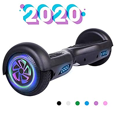 """YHR 6.5"""" Hoverboard Two- Flashing Wheels Self Balancing Electric Scooter LED Lights Wheels UL2272 Certified Hoverboard for Kids"""
